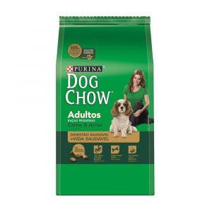 ra??o purina dog chow para c?es adultos de ra?as pequenas sabor carne e arroz 15kg