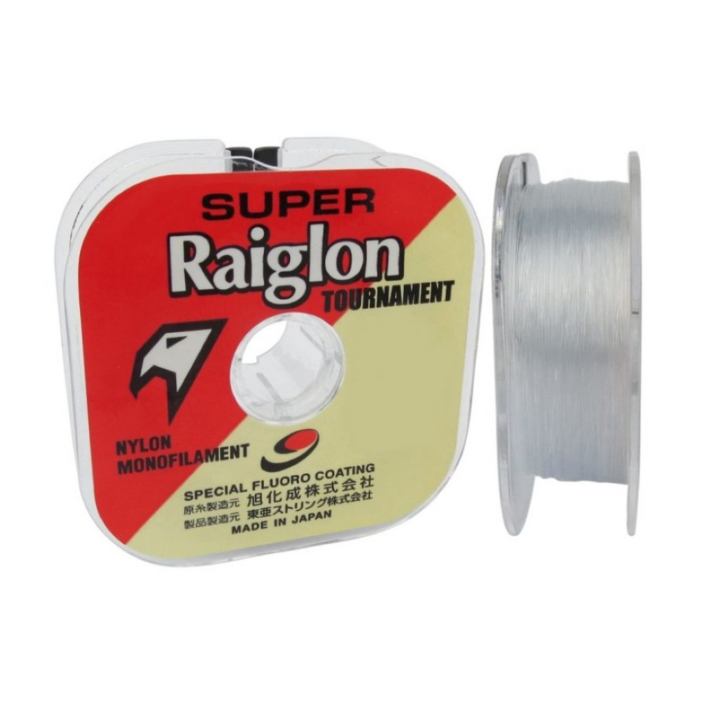 linha para pesca super raiglon branca 0405mm