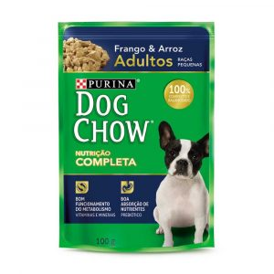 ra??o dog chow sach? para c?es adultos de ra?as pequenas sabor frango e arroz 100g