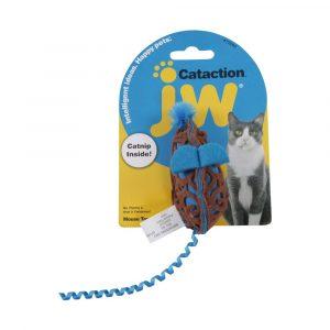 brinquedo para gato mouse azul com catnip