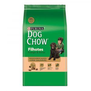 ra??o purina dog chow para c?es filhotes sabor frango e arroz 15kg