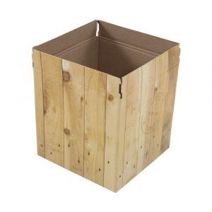 vaso cachepot de papel quadrado
