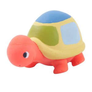 brinquedo amf l?tex tartaruga cor laranja