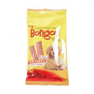 petisco bongos para c?es e gatos bifinhos de frango 65g
