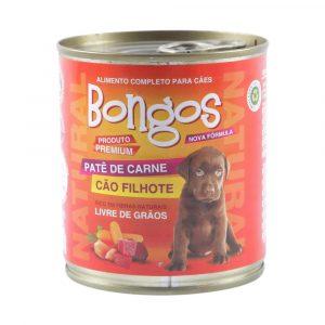ra??o bongos lata para c?es filhotes sabor pat? de carne 280g
