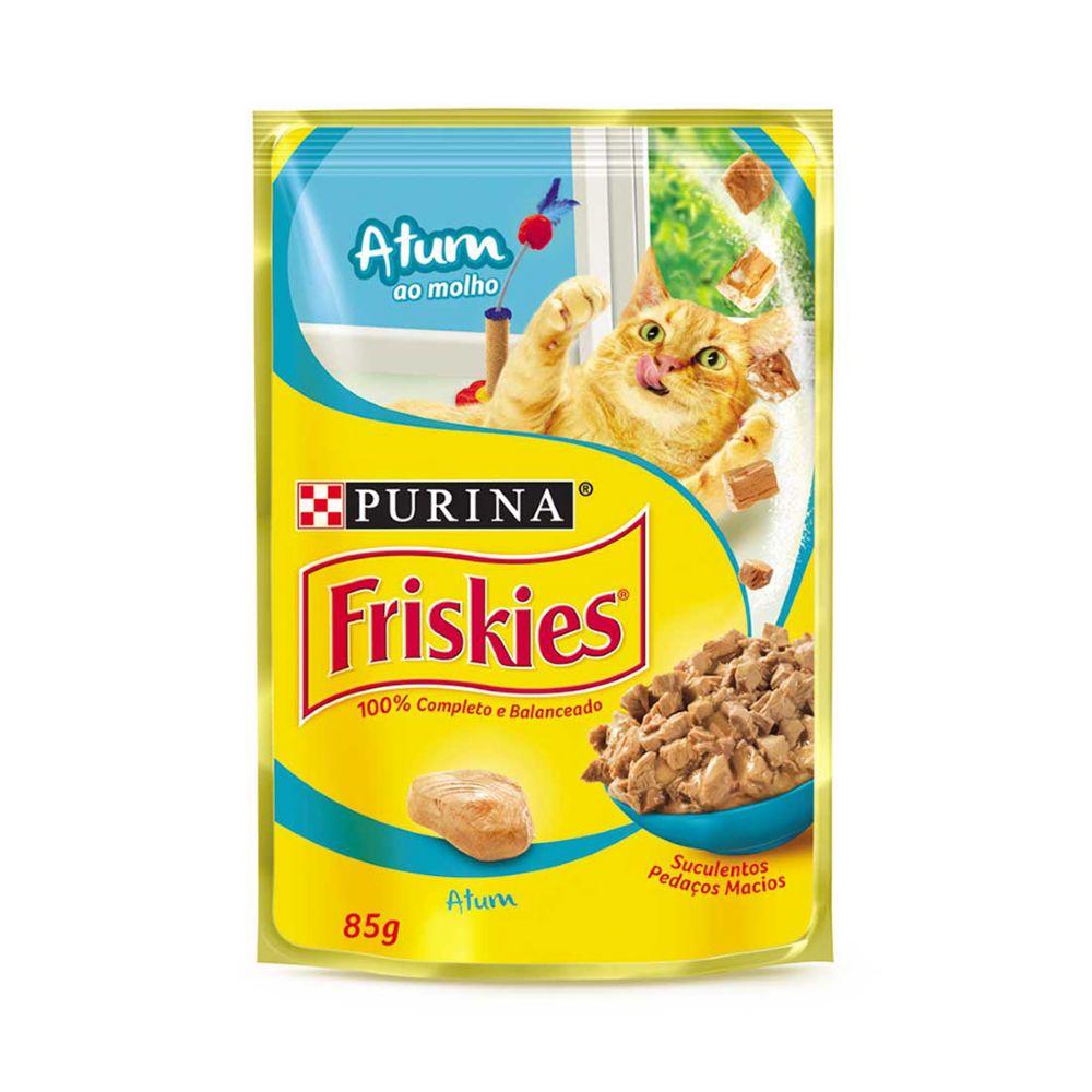 ra??o friskies sach? para gatos adultos sabor atum ao molho 85g