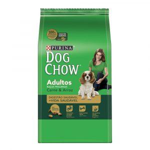 ra??o purina dog chow para c?es adultos de ra?as pequenas sabor carne e arroz 3kg