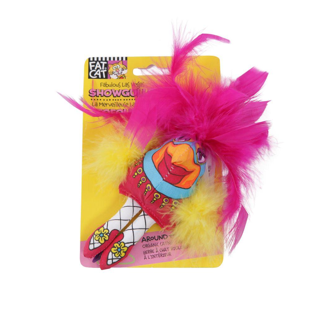 brinquedo para gato frango showgulls rosa