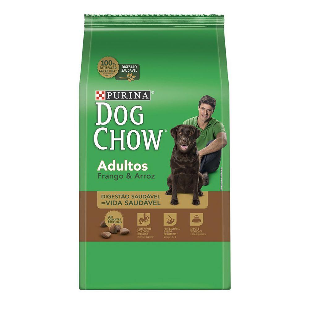 ra??o purina dog chow para c?es adultos sabor frango e arroz 15kg