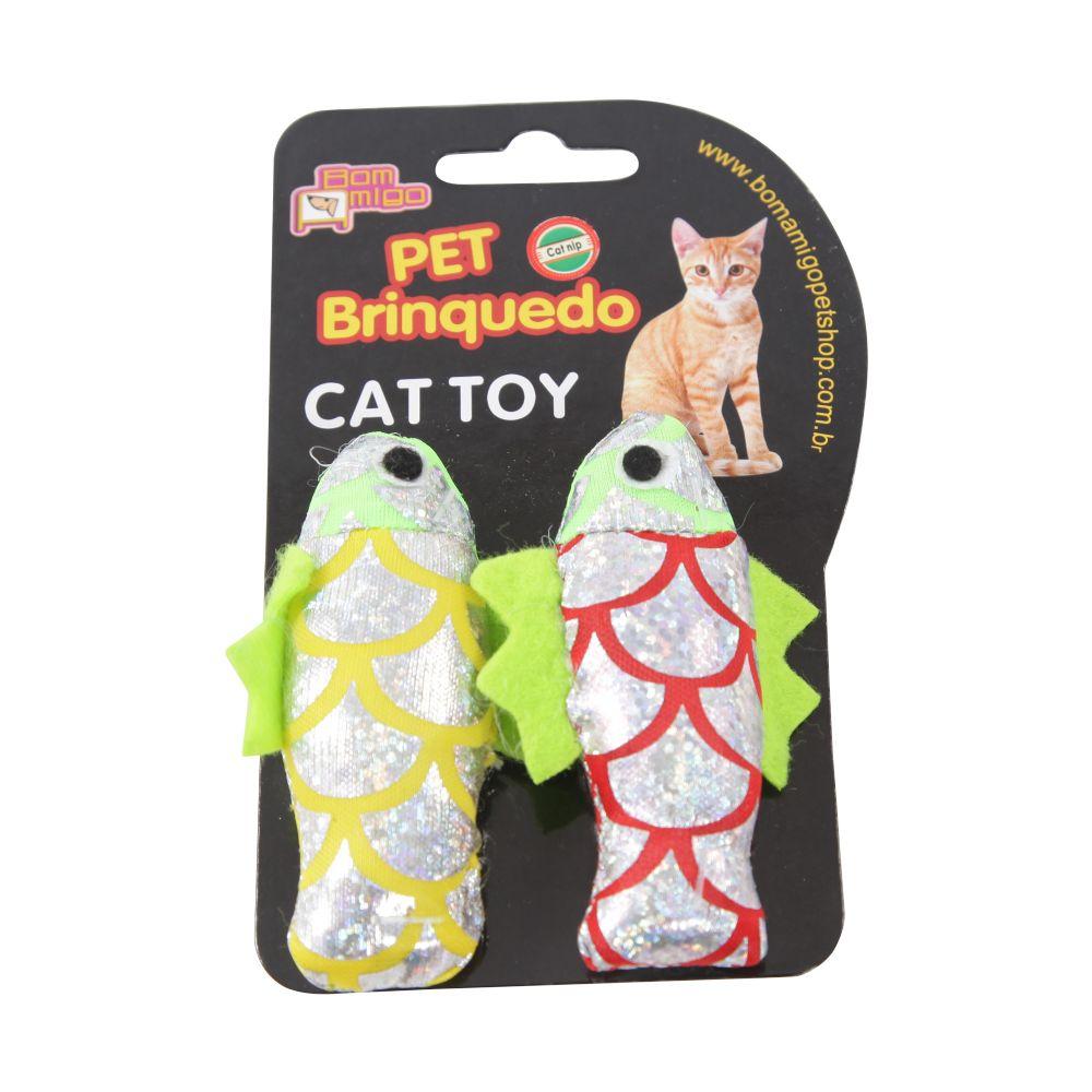 brinquedo para gato peixinho brilhante com catnip c8039 cat toy