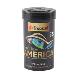 ra??o tropical soft line america gr?nulos pequenos (sticks) 56g