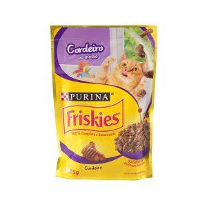ra??o friskies sach? para gatos adultos sabor cordeiro ao molho 85g