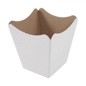 vaso cachepot de papel cris?ntemo branco estampado