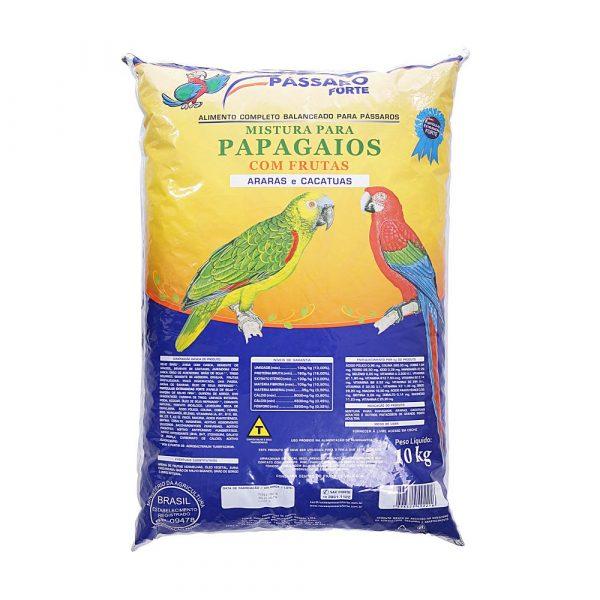 ra??o p?ssaro forte mistura para papagaios com frutas 10kg