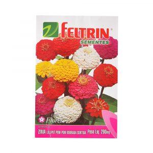 semente feltrin linha flores zinia lilliput pompom dobrada sortida 290mg