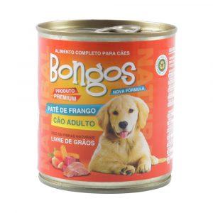 ra??o bongos lata para c?es adultos sabor pat? de frango 280g