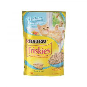 ra??o friskies sach? para gatos filhotes sabor peixe branco ao molho 85g