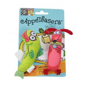 brinquedo para gato appeteasers com catnip verde/vermelho