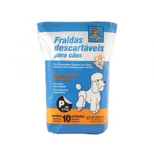 fralda descartavel p 6x10 pet society