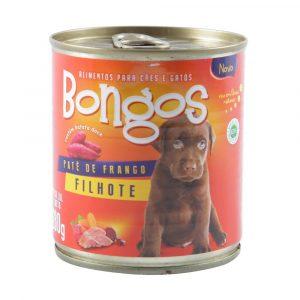 ra??o bongos lata para c?es filhotes sabor pat? de frango 280g