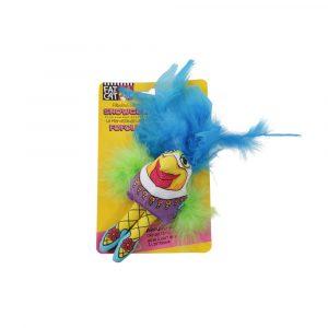 brinquedo para gato frango showgulls azul