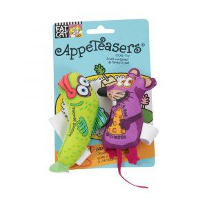 brinquedo para gato appeteasers com catnip verde/roxo