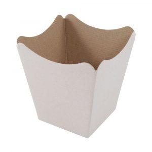 vaso cachepot de papel cris?ntemo natural liso