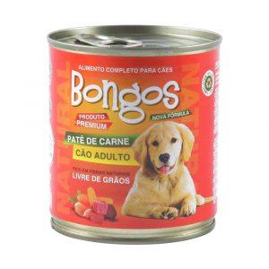 ra??o bongos lata para c?es adultos sabor pat? de carne 280g